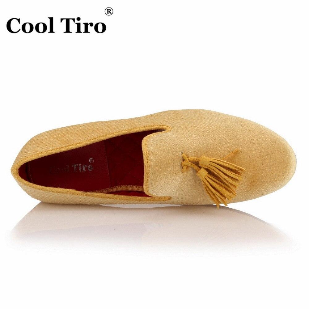 RAFFREDDARE TIRO Moda di Lusso Nappa Gialla Mens Mocassini di Velluto Scarpe Uomini di Partito Pattini di Vestito Da Sposa Fumatori Pantofole Appartamenti degli uomini - 5