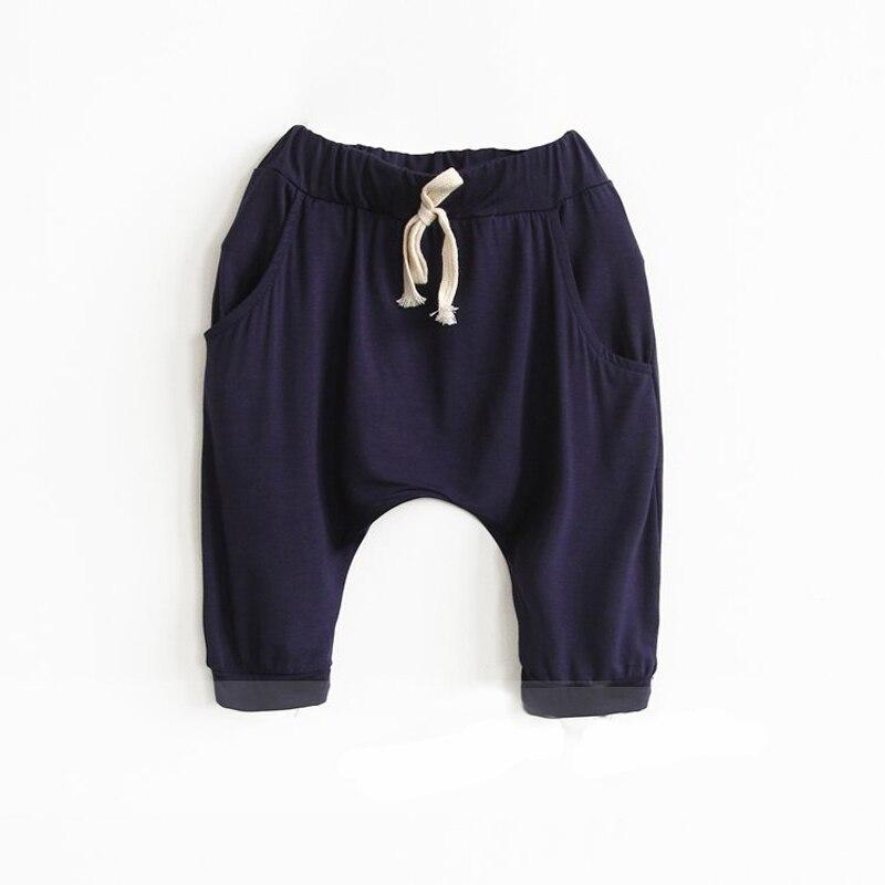 2015 Neue Einfache Einfarbige Modal Jungen Und Mädchen Fünf Hosen Pluderhosen Kinder Koreanische Jungen Hosen 2-7 Jahre Jungen Hosen