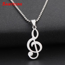 Fashion DIY Music Logo Necklaces for Men Stainless Steel Long Chain Necelace Male Friendship CS GO Neclace CSGO Neckless kolye