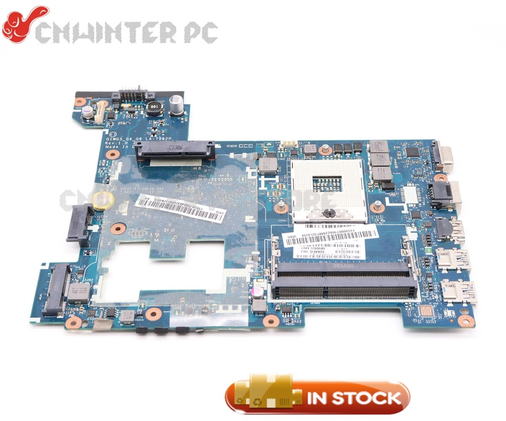 NOKOTION QIWG5_G6_G9 LA-7982P MAIN BOARD For Lenovo Ideapad G480 Laptop Motherboard 14 Inch HM76 GMA HD4000 DDR3