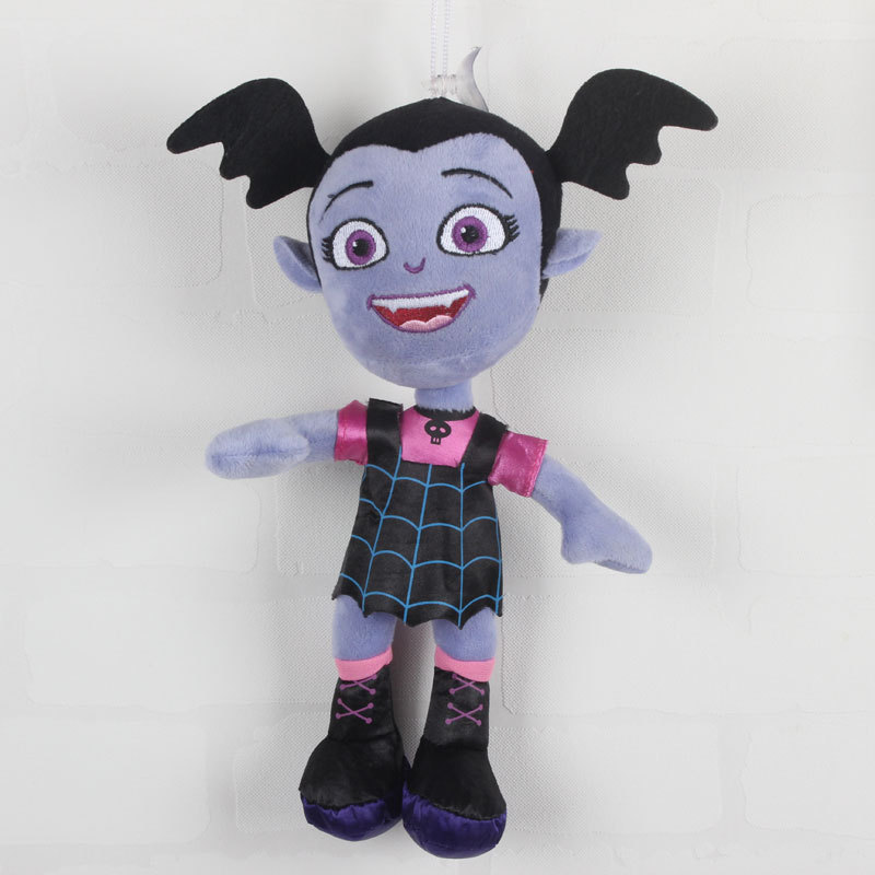 купить free shipping 28cm plush Vampirina and the Purple Dog Stuffed Animal Plush Doll Toy For Kids Gifts toy bk4 недорого