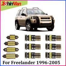 ShinMan 13x LED CAR Light Car LED Interior LED Interior kit de Luz de iluminação Do Carro Para Land Rover Freelander 1996-2005 interior do carro