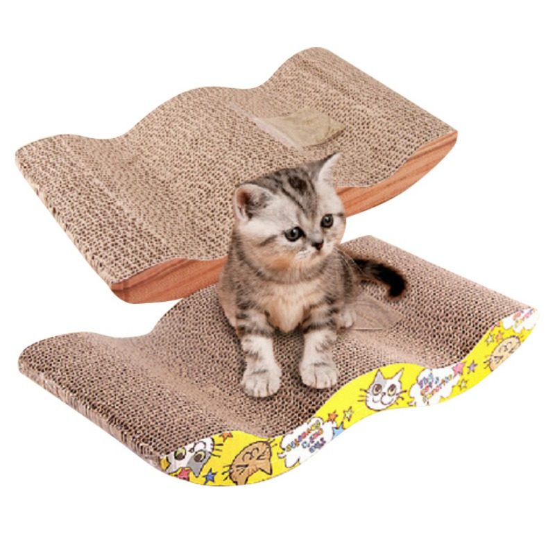 2018 Cat ToysCat Kitten Corrugated Scratch Board Pad Scratcher Bed Mats Claws Care Interactive Toy For Pet Cat Training Cat Toy