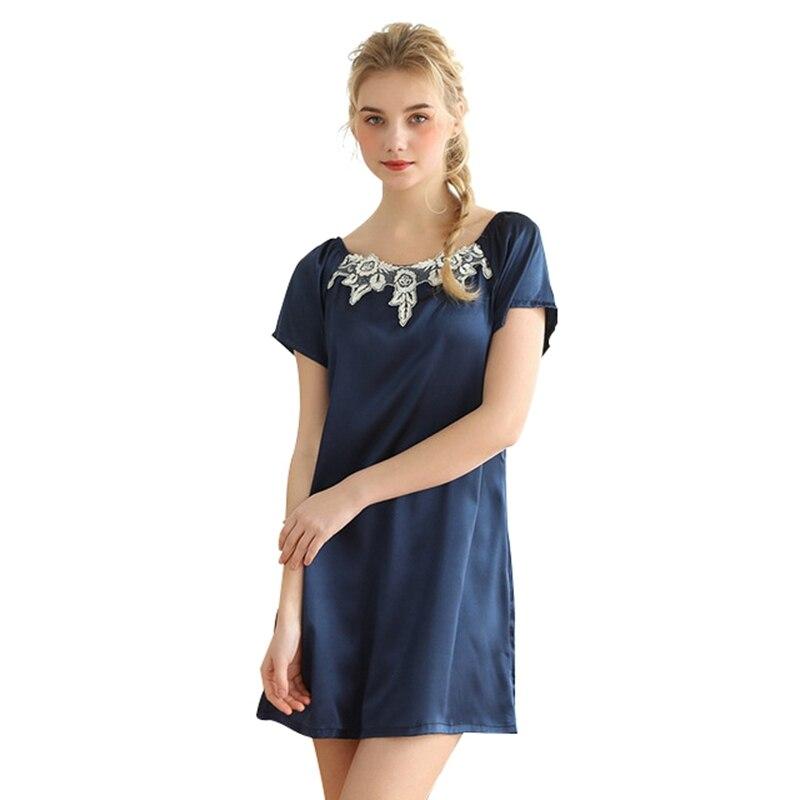 New Sexy   Nightgown   Women Sleepwear Summer Lingerie Sleepdress Women Nightdress Sleep Wear Silk Lace   Sleepshirts   Sleepwear