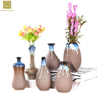 Handmade Pottery Vases Ceramic Porcelain Flower Vases Homes Decoration Adornos Para Casa Moderno Antique Vase For Flowers QAB130