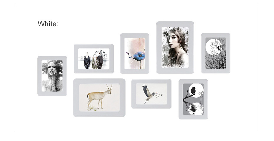 930 Magnetic Photo Frame With Adhesive Crystal Surface Kids Room Wall Decor Magnet Picture Frame_10
