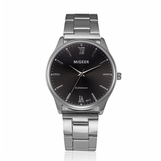 GEMIXI Luxury brand HOT Sales Men's watches Fashion Man Crystal Stainless Steel Analog Quartz Wrist Watch gold silver Dropship