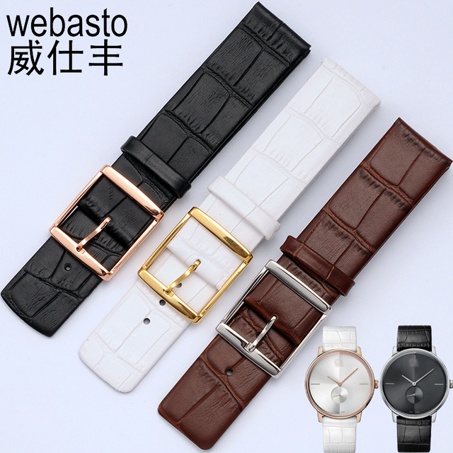 42cb5abae9b For Daniel Wellington 16 18 20 22mm Watch Band For Calvin Klein Clock  Watches Flat Interface Female Belt Straps Montre Relogio