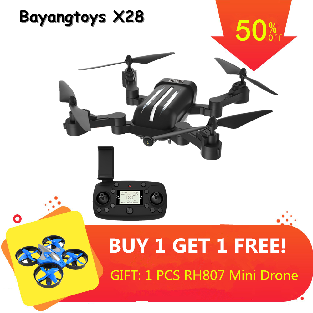 Bayangtoys X28 Brushless Quadcopter with 1080P Camera RC Helicopter Quadrocopter Foldable <font><b>Drone</b></font> with Camera GPS <font><b>Drone</b></font> VS <font><b>CG033</b></font> image