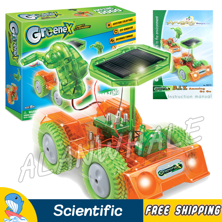 Eco Generator Experiments Solar Cars Vehicles Alternative Energy Science Set Scientific Kits Battery Free Model Building Toys electric taxiing aircraft model accessories diy science and technology small inventions scientific experiments science toys