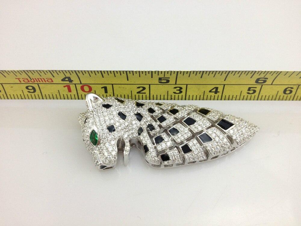 Top qualité résultats de bijoux et composants 925 en argent Sterling avec Zircon cubique bijoux accessoires bricolage Animal léopard - 4