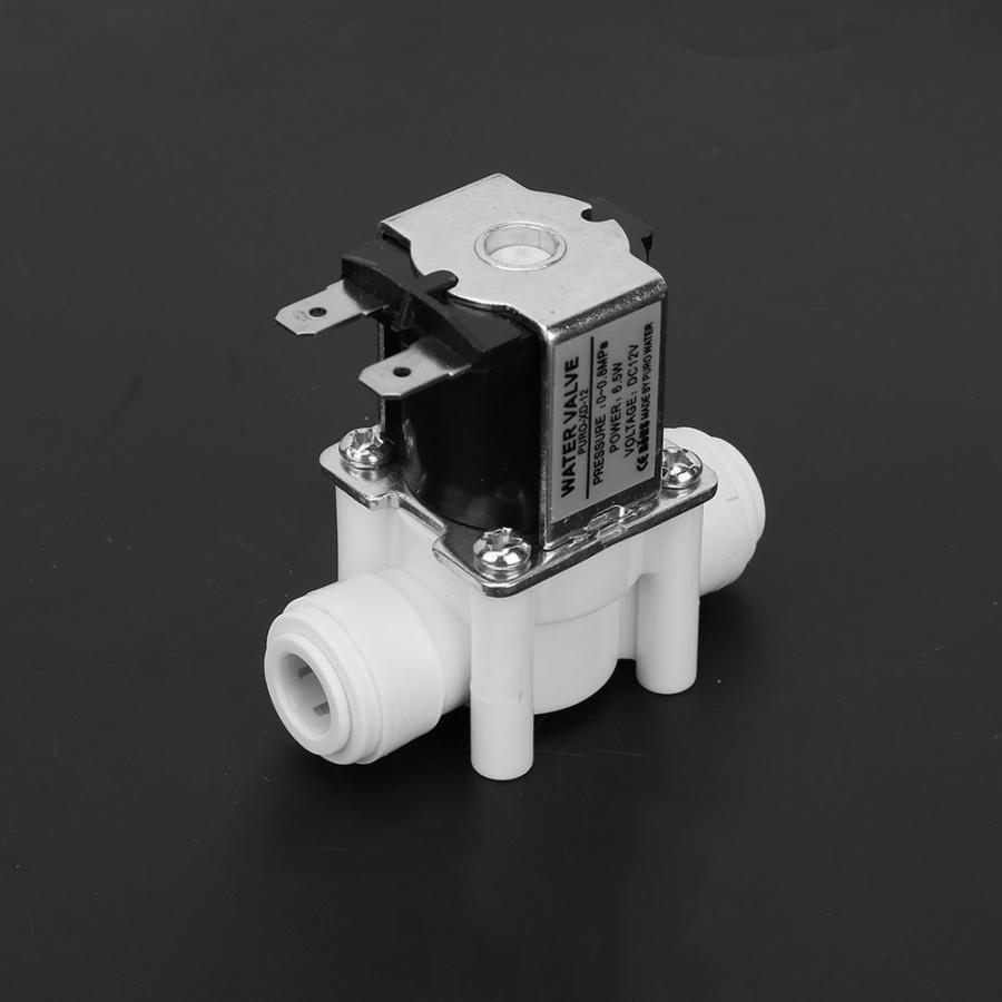 1pc DC 12V DC Plastic Electric Solenoid Valve Quick Connect Normally Close Water Valve