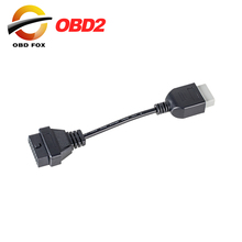2018 Top selling For Honda 5pin OBD1 Adapter to 16pin OBD2 OBDII for Honda 5 pin to 16 pin female Connector free shipping