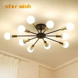 Star wish nowoczesne LED żyrandol oświetlenie sufitowe do salonu sypialni domu 4/6/8/10 głowy e27 oprawy oświetleniowe