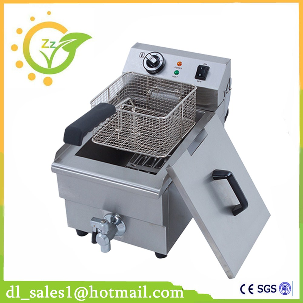 10 L Electric Deep Fryer Blast Furnace Cylinder Thickening Fryer Grill Fried Chicken Fried Dough Sticks Furnace Fries Machine thick single cylinder electric fryer commercial electric fryer fried chicken oven fries fried squid machine dedicated