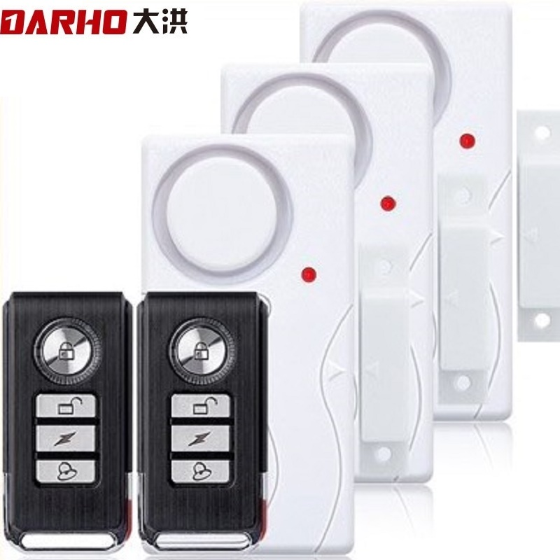Darho Door Window Entry Security Wireless Remote Control Sensor Alarm Host Burglar Security Alarm System Home Protection Kit