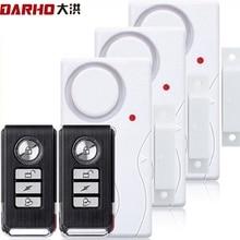 Darho Tür Fenster Entry Sicherheit Drahtlose Fernbedienung Sensor Alarm Host Einbrecher Sicherheit Alarm System Home Schutz Kit