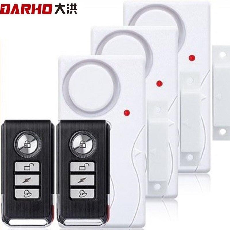 Darho janela da porta entrada de segurança sem fio controle remoto sensor alarme host sistema alarme segurança do assaltante kit proteção em casa
