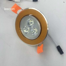gold surface Sale Led Spotlight Ceiling Lights  4pcs Lot Down Power Warm Color With Epistar 300-360lm High Brightness