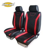 AutoCare Hot Sale PU Leather Style Car Front Seat Cover Black Red Color With PU Headrest