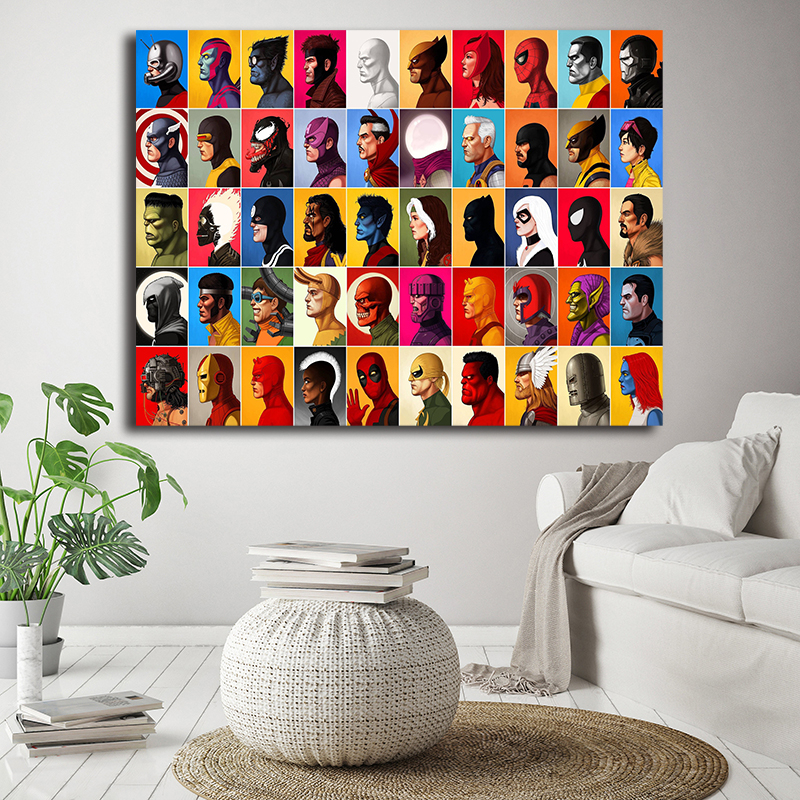 Marvel Comics Collection Canvas Painting Oil Print Poster Wall Art HD Picture For Living Home Children Bedroom Decor in Painting Calligraphy from Home Garden