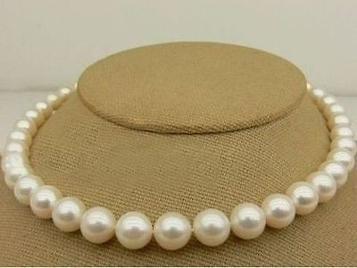 NEW 10-11MM AKOYA SOUTH SEA WHITE PEARL NECKLACE  GP 18 AHHNEW 10-11MM AKOYA SOUTH SEA WHITE PEARL NECKLACE  GP 18 AHH