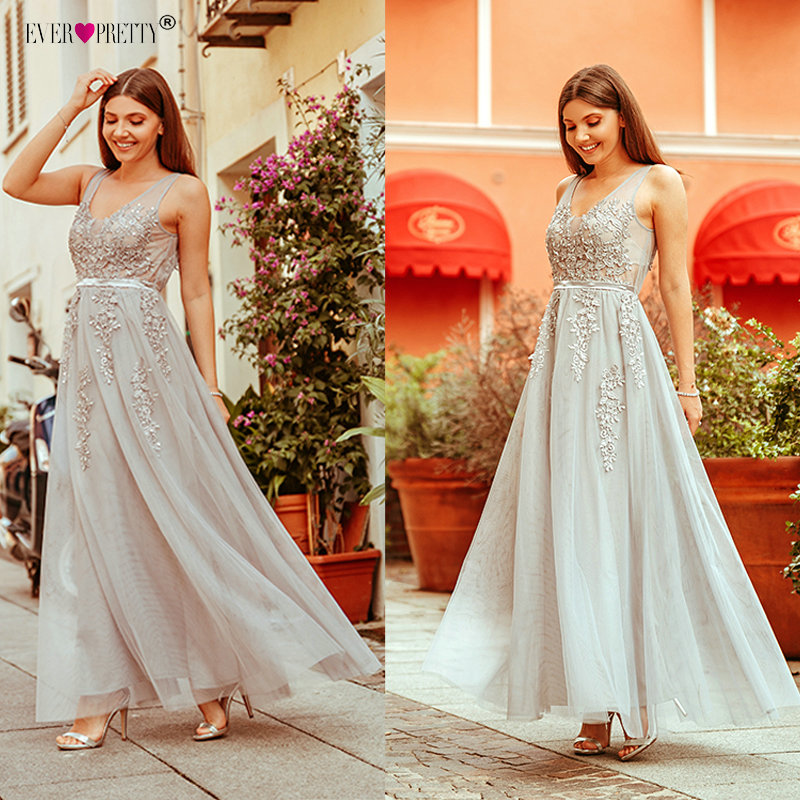 Robe De Soiree Ever Pretty Lace Beading Sexy Backless Long Evening Dresses Bride Banquet Elegant Floor-length Party Prom Dress