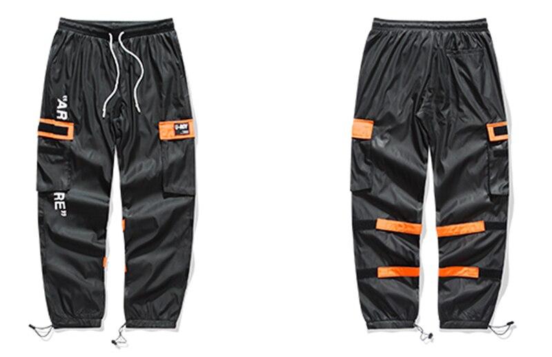 Aolamegs Men Casual Track Pants Splicing Contrast Pants Men Elastic Waist Sweatpants Men High Street Hip Hop Pants Streetwear (8)
