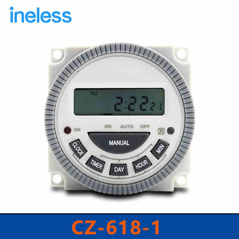 CZ618-1  AC220V 50/60Hz  Cycle Countdown Timer Switch Microcomputer Timer Control Switch купить шнур на электро шок type 618