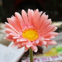 5pcs lot Artificial Flowers Silk Flowers Big Artificial Gerberas Flowers for DIY Scrapbooking Wedding Bouquets Home