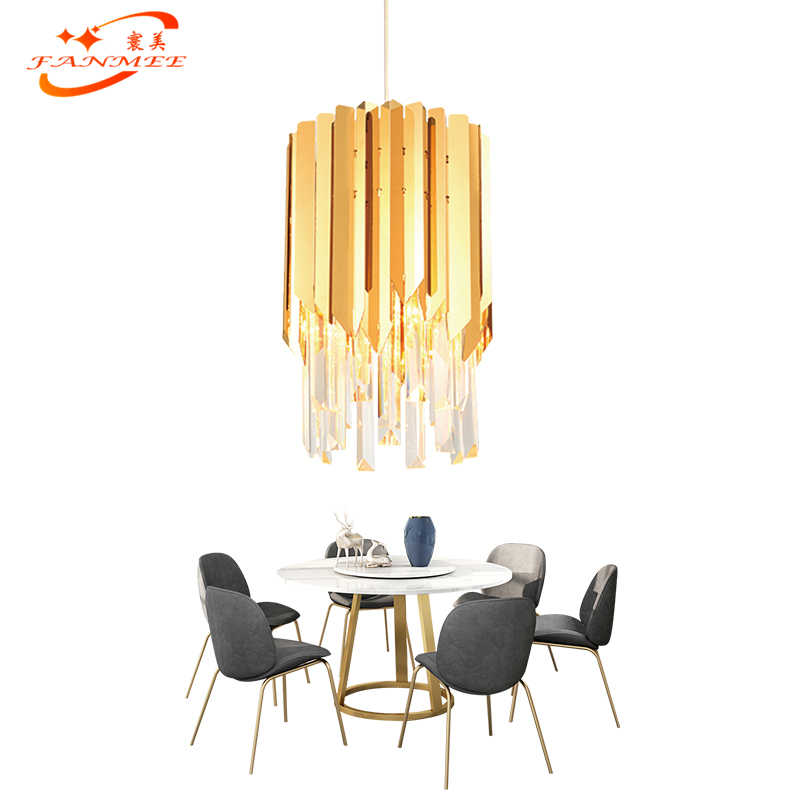 Modern Crystal Chandelier Lighting Living Dining Room Chandeliers Singal Pendant Hanging Light LED Lustre Cristal Chandeliers