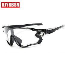 HJYBBSN Brand 2018 cycle Glasses Sports Sunglasses UV 400 Le