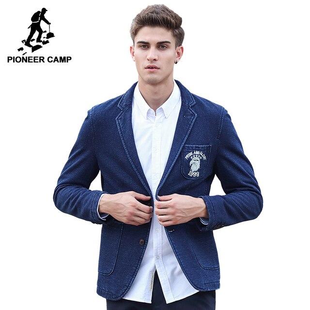 Pioneer camp 2017 nueva llegada hombres de la marca de moda chaqueta de primavera  traje masculino 61b111a17f10