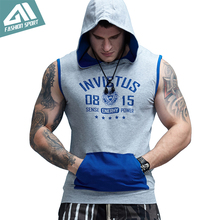 Aimpact Gym Men's Sleeveless Hoodies Slim Fitted Wokout Tank Top Man Bodybuilding Crossfit Sport Running Activewears Male AM1011