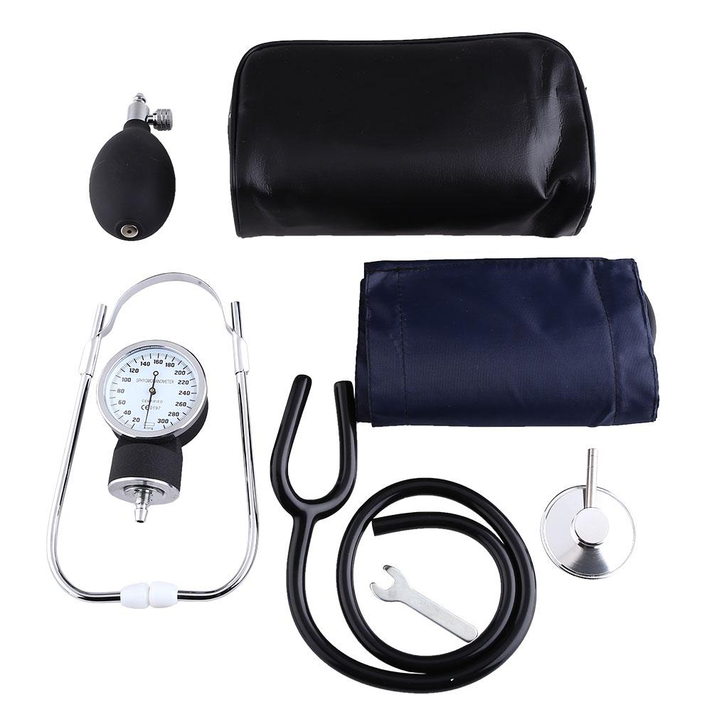 Adult Arm BP Cuff Blood Pressure Kit With Seperate Stethoscope Aneroid Sphygmomanometer Measure Device motorcycle front brake master cylinder brake lever