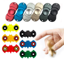Tri-Spinner Fidgets Toy Brass EDC Sensory Batman Fidget Spinner Hand For Autism and ADHD Rotate Anti Stress Toys #E