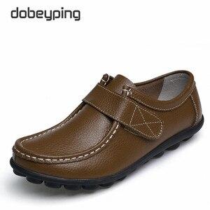 Image 4 - Cuir véritable femmes chaussures décontractées à lacets femme mocassins mocassins femmes chaussures plates solide talon bas dame chaussure doux chaussures pour femmes