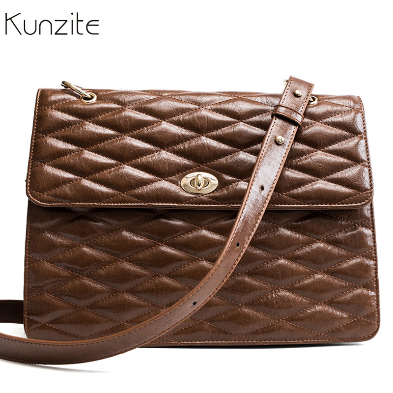 2018 Luxury Brand Female Handbags Women Plaid Bags Large Tote Bag Designer Brown Leather Big Crossbody Shoulder Bags Sac A Main цены онлайн