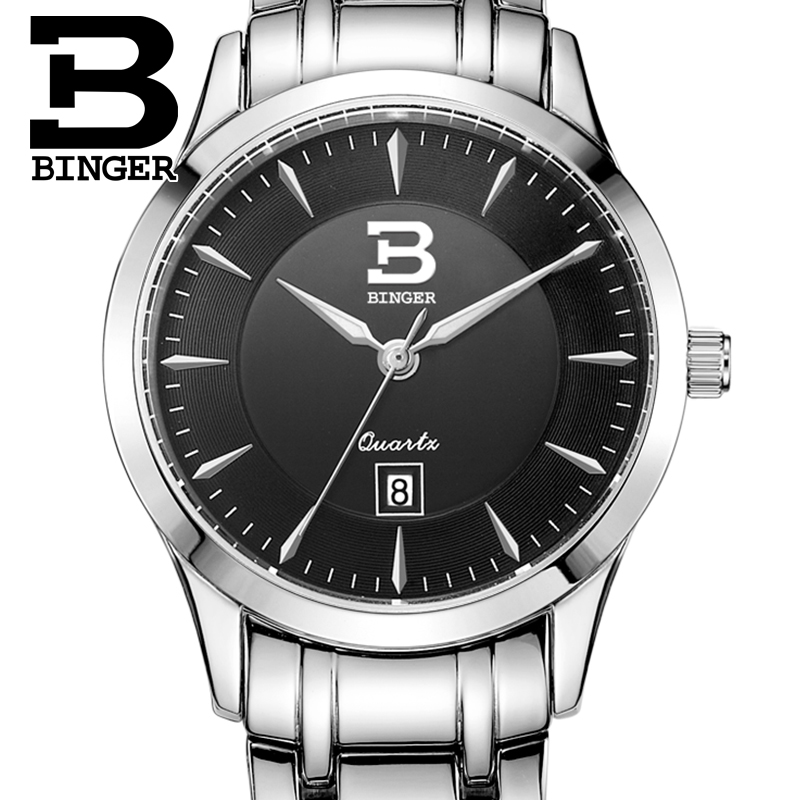 ФОТО Switzerland watches women luxury brand BINGER quartz full stainless steel Water Resistance ultrathin Wristwatches B3005W-2
