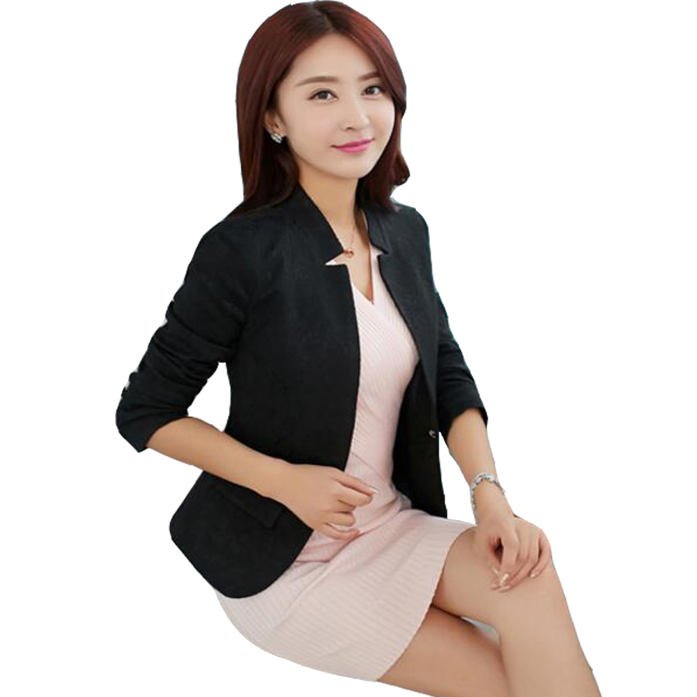 2019 Fashion 2019 Spring V Neck Stylish Women Blazers Blue Korean Slim Fit Female Blazer Women Office Work Suit Jackets White Blue Plus Size Professional Design Suits & Sets Back To Search Resultswomen's Clothing