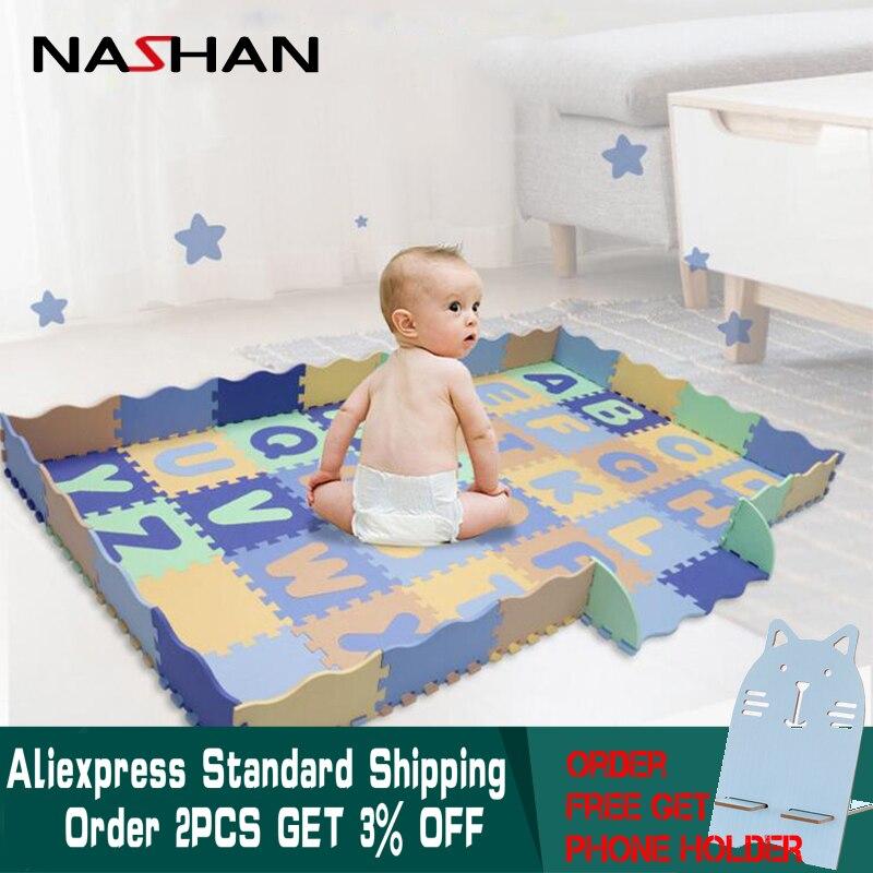 Nashan 28 pièces/ensemble Alphabet bébé tapis de jeu EVA mousse enfants