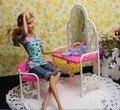 2016 детские играть дома игрушки Куклы Аксессуары Ручной Работы Куклы Пластиковые комод и стул набор Для Куклы Барби, девушки подарок
