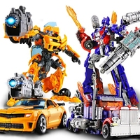 Children Robot Toy Transformation Anime Series Action Figure Toy 2 Size Robot Car Deformation Model Juguetes Toy for Children