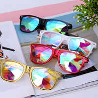 Samjune caleidoscópio óculos rave festival festa edm óculos de sol lente diffracted luxo óculos de sol lunette soleil femme lentes
