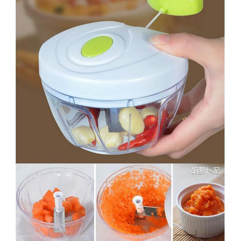 Pull-cord Food Chopper Fruit Vegetable Dicer Garlic Ginger Cutter Kitchen Gadgets Cooking Tools 5