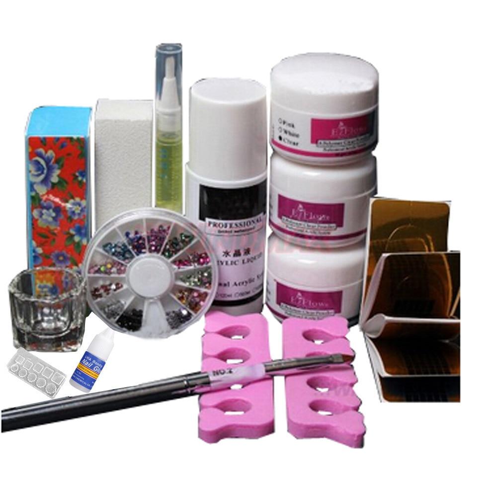 Aliexpress.com : Buy Nail Art Kits Basic DIY Set Powder