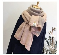 Version Of The New Double Color Super Soft Wool Scarf All Match Thick Warm Small Pineapple