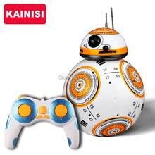 Бесплатная доставка 17 см Star Wars RC 2.4 г BB-8 обновления робот дистанционный пульт BB8 Интеллектуальный робот со звуком RC мяч малыш подарок игрушка мальчика