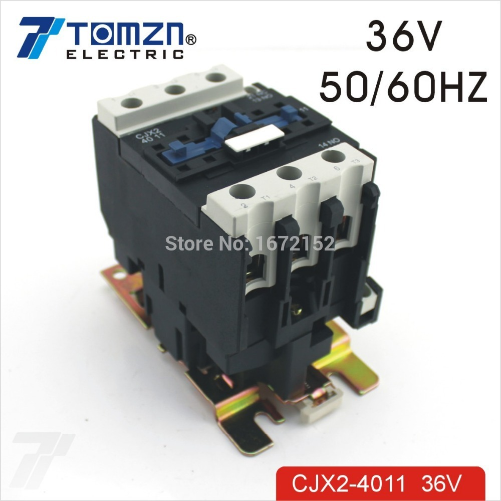 CJX2 4011 AC contactor LC1 40A 36V 50HZ/60HZ shgo hot 2w 200 20 3 4 inch brass electric solenoid valve water air fuels n c dc 12v