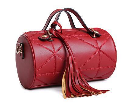 2017 new personality handbag, women handbags cylinder bag, Boston shoulder bag 2017 new 38mm cylinder